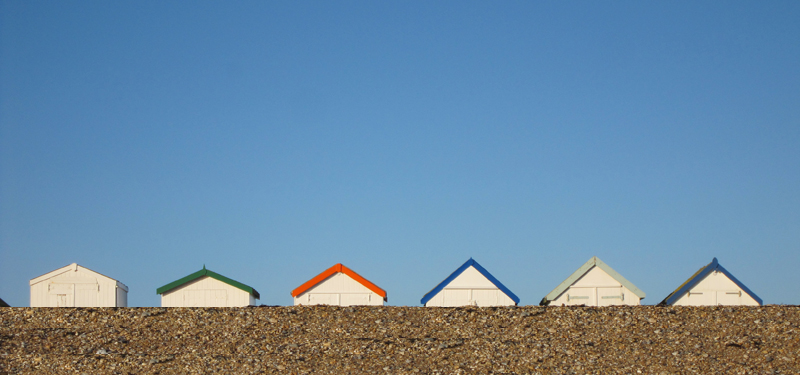 little beach huts